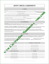 Lien Release Form Inspiration Joint Check Agreement Form Instant Download Use Fillinable