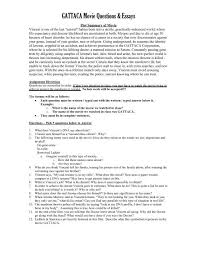 Gattaca Movie Questions Essays