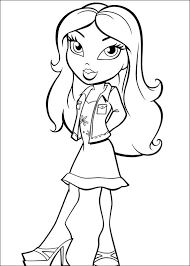 Small Picture Bratz Coloring Pages Printable Best Gift Ideas Blog