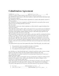 Cohabitation Agreement Template Cohabitation Agreement Template 1