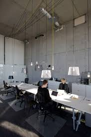 industrial style office. Shared Work Benches Can But It Has To Have Atmosphere, Human Detail Like The Lamps . Office :: Amsterdam IJburg Industrial Style