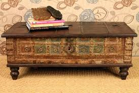decorative trunks for coffee tables decoration in antique trunk coffee table within plans 4 wooden trunk