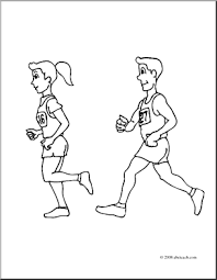 Small Picture Girl Running Coloring Pages Coloring Coloring Pages