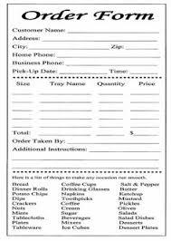 Sample Of Order Form Template 14 Best Restaurant Order Form Template Images Restaurant Order