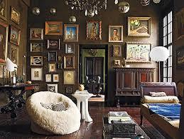 brown bohemian living room image source elle decor