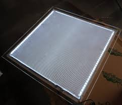 Led Light Box Display Stand Desktop stand a100 ultra thin cystal advertising display led 59