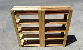 ... wooden pallet shoe rack