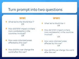 comparative essay present ppt turn prompt into two questions