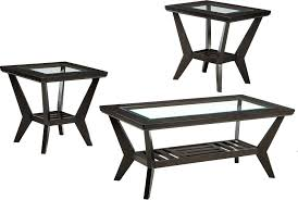 glass table set dark wood frame coffee tables with inserts setting ideas