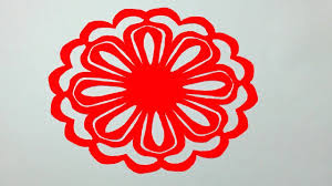 Paper Cutting Designs For Decoration How to make Simple paper cutting Flowerspaper cutting Design for 2
