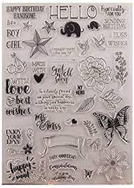 GIMISTUI Store Clear <b>Stamps</b> DIY Card Making (<b>Blessing</b>)