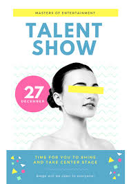 Talent Show Flyer Design Talent Show Flyer Template Clipart Free Download Best