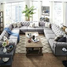 comfortable sectional sofa. Big Sectional Sofas View In Gallery Tufted Sofa Large From  Overstock That Comfortable