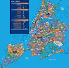 new york neighborhood map  map of nyc neighbourhoods (new york  usa)