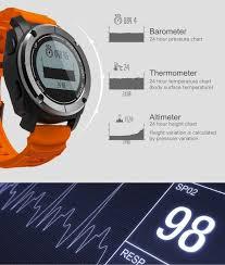 S928 Upgrade Version Gps Sport Smart Watch Pedometer Heart Rate Pressure Temperature Height Auto Lap Sedentary Reminder Sleep Monitor