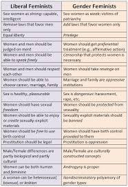 Liberal Versus Gender Feminism Mcelroys Sexual