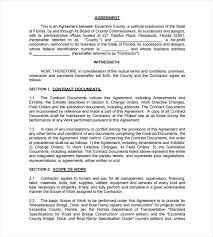 Simple Works Contract Template Residential Construction Contract