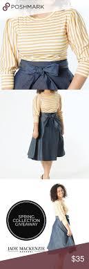 Jade Mackenzie Stripe Top Circle Skirt Price Is Firm Not