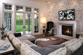 sectional sofa set and ottoman table for family room furniture layout ideas with fireplace