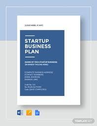 Startup Business Plan Sample Tech Startup Business Plan Template Word Google Docs