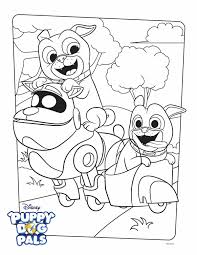 Search result for puppy coloring pages and worksheets, free download and free printable for kids and lots coloring pages and worksheets. Puppy Dog Pals Coloring Page Activity Disney Family