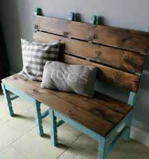 furniture for porch. easy bench made from two old chairs awesome for a front porch or mudroom furniture