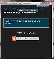 visual studio 2010 website templates asp net mvc 3 razor mobile ready website template jquery mobile