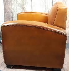 retro leather club chair