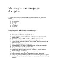 Projectanager Job Description Template Sales Account Resume