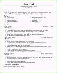 Warehouse Forklift Driver Resume Sample 35 Concepts In 2019