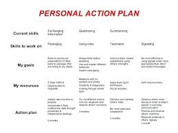 personal development plans sample work action plan template
