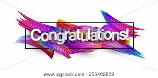 Congratulations Poster Congratulations Paper Banner With Colorful Brush Strokes