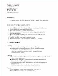 Special Police Officer Sample Resume Awesome Law Enforcement Resume Examples Fresh Resume For Police Officer