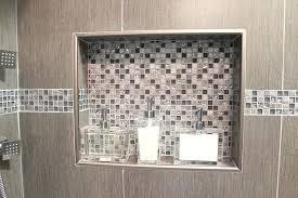 accent tile shower double shower niche metal trim and decorative glass accent tile mosaic accent tile accent tile shower
