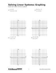 equations graphing systems of linear equations edboost equations solving systems of linear equations by