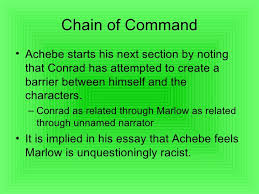 chinua achebe chain of command