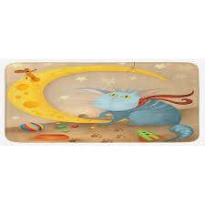 East Urban Home Cat And Mouse On Crescent Moon Shaped ...