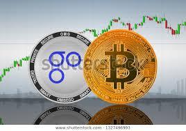 Bitcoin Btc Omisego Omg Coins On Stock Illustration 1327496993