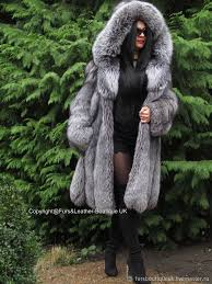 order luxurious fur coat saga furs fox fur color platinum m