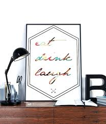 hipster wall art kitchen wall art eat drink laugh typography hipster minimalist kitchen prints hipster wall