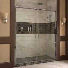 frameless bypass sliding shower doors luxury visions 60 x 72 double sliding frameless shower door