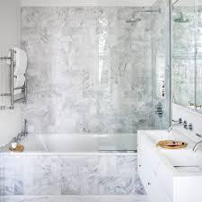 bathroom modern white. Sleek Modern Bathroom With Marble Tiling White O