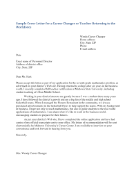 Sample Cover Letter For Teachers With No Experience Cover Letter