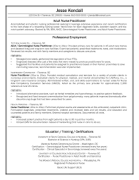 Sample Nurse Practitioner Resume Free Resume Templates 2018