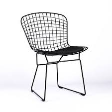 white wire chair. Beautiful White HARRY BERTOIA INSPIRED BLACK METAL WIRE DINING CHAIR U0026 SEAT PAD CAFE  RESTAURANT On White Wire Chair