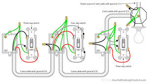 wiring diagrams 4 way switch 2 way power switch two way light how to wire a three way switch with multiple lights at 3 Way Switch Wiring Diagram Power At Switch