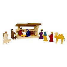swiss wood nativity set