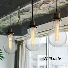 teardrop clear glass filament single pendant lamp hanging lighting water drop transpa vintage bulb loft bar suspension light mega bulb island pendant