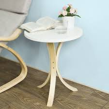 haotian round wooden side table end table console table tea coffee table