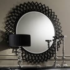 contemporary designer italian black round mirror  juliettes